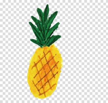 Drawing Watercolor painting Illustrator Illustration, Hand drawn card love pineapple transparent background PNG clipart png image transparent background
