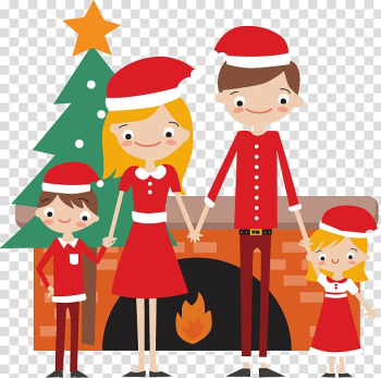 Euclidean Christmas JavaScript, Lovely family transparent background PNG clipart png image transparent background