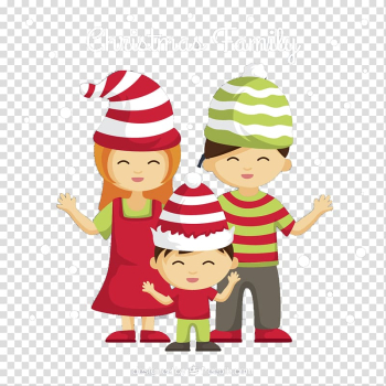 Christmas Family Euclidean , Christmas family material transparent background PNG clipart png image transparent background