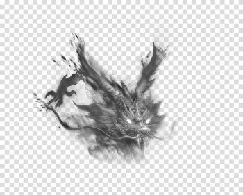 Gray dragon illustration, Transparency and translucency, Smoke Dragon transparent background PNG clipart png image transparent background