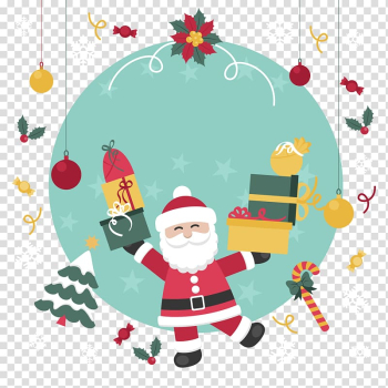 Santa Claus Christmas Gift , Christmas illustration transparent background PNG clipart png image transparent background