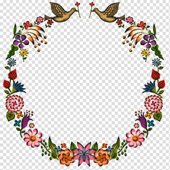 Amazon.com Book, Hand-painted birds and flowers texture border element transparent background PNG clipart png image transparent background