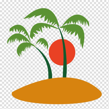 Ilha do Coqueiro Coconut Tree , trees and sun transparent background PNG clipart png image transparent background