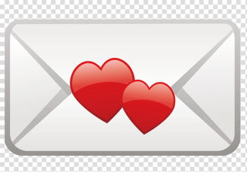 Red Heart, Red heart-shaped envelope transparent background PNG clipart png image transparent background