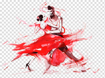 Couple dancing abstract artwork, Tango Dance AllPosters.com, watercolor dancing people transparent background PNG clipart png image transparent background