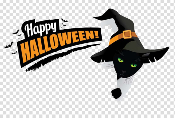 Happy halloween text, Halloween costume Witch Cosplay Disguise, Halloween transparent background PNG clipart png image transparent background