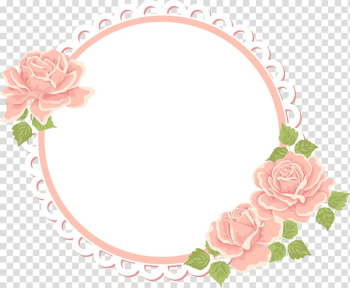 Flower frame Pattern, Artwork painted pink roses transparent background PNG clipart png image transparent background