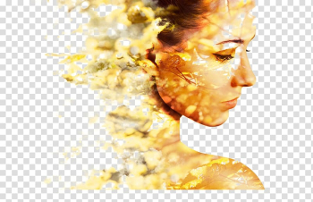 Woman digital illustration, Spain Cruelty-free Cosmetics Deodorant Cosmetology, Creative mottled leaves foreign beauty in profile transparent background PNG clipart png image transparent background