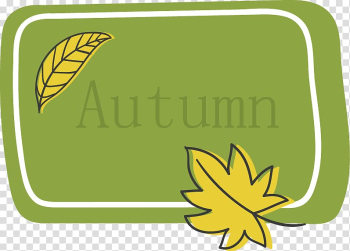 Green, Letters painted green background with yellow leaves in autumn transparent background PNG clipart png image transparent background
