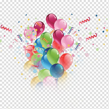 Assorted-color balloons illustration, Toy balloon Birthday Hot air balloon, Birthday Balloons transparent background PNG clipart png image transparent background