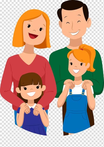 Droopy Family Cartoon Child, hand painted a family transparent background PNG clipart png image transparent background