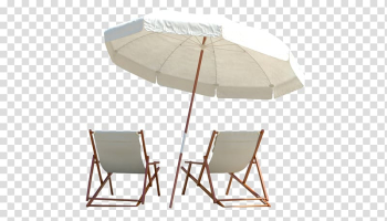 Beach umbrella and bed , Travel Package tour Hotel Beach Vacation, White Parasol Beach chair summer transparent background PNG clipart png image transparent background
