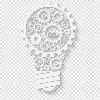 White Idea gear lightbulb illustration, Light Gear Euclidean Wheel Mxe1quina, White bulb material Gear transparent background PNG clipart png image transparent background