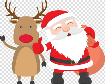Santa Claus Reindeer Father Christmas Child, Santa Claus with elk transparent background PNG clipart png image transparent background