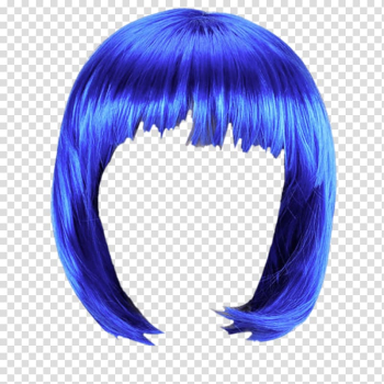 Blue hair transparent background PNG clipart png image transparent background