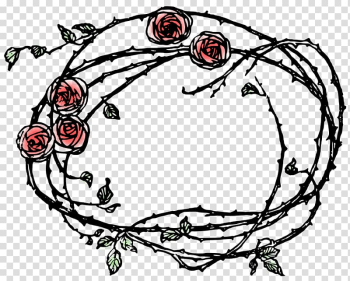 Thorns, spines, and prickles Rose Drawing , teal frame transparent background PNG clipart png image transparent background