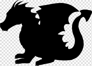 Dragon Silhouette Child , animal silhouettes transparent background PNG clipart png image transparent background