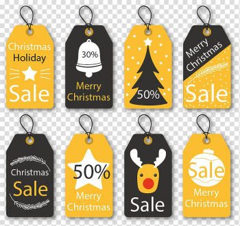 Christmas ornament, 8 Christmas ornaments tag transparent background PNG clipart png image transparent background