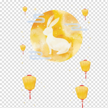 Rabbit illustration, Mooncake Mid-Autumn Festival Moon rabbit, Mid Autumn Festival material transparent background PNG clipart png image transparent background