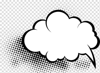 White cloud illustration, Comics Comic book Speech balloon Cloud, Hand-drawn cartoon transparent background PNG clipart png image transparent background