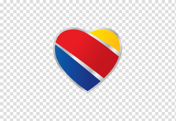 Yellow, red, and blue heart , Southwest Airlines Logo Dallas Love Field United Airlines, emirates airline transparent background PNG clipart png image transparent background