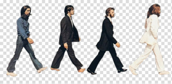 Men walking, The Beatles Abbey Road Sgt. Pepper\'s Lonely Hearts Club Band Silhouette, tour transparent background PNG clipart png image transparent background