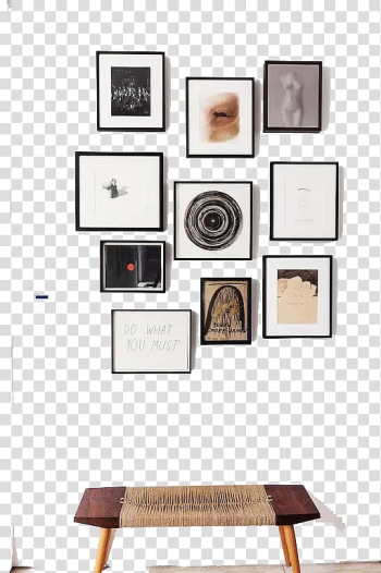 Assorted-color abstract paintings, frame Wall decal Interior Design Services Decorative arts, decoration design transparent background PNG clipart png image transparent background