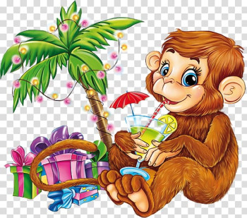 Monkey Ape Animal, Hand-painted monkey creative gift transparent background PNG clipart png image transparent background