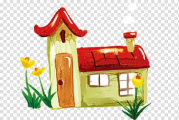 Poster Fukei Spring Cartoon Illustration, Braved the smoke house transparent background PNG clipart png image transparent background