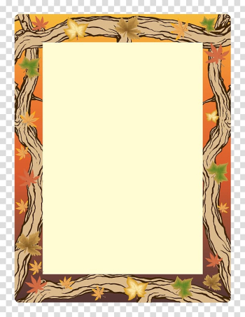 Paper Microsoft Word Autumn Template , Paper Border Designs For Projects transparent background PNG clipart png image transparent background