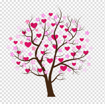 Tree Heart , cherry blossom transparent background PNG clipart png image transparent background