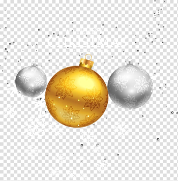 Christmas Ball Gold Computer file, Three Christmas balls transparent background PNG clipart png image transparent background