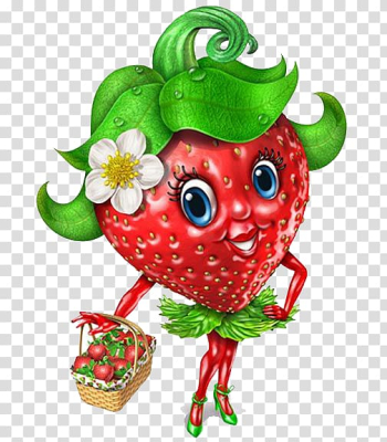 Smiley Strawberry Emoticon Fruit , Lovely Miss Strawberry transparent background PNG clipart png image transparent background