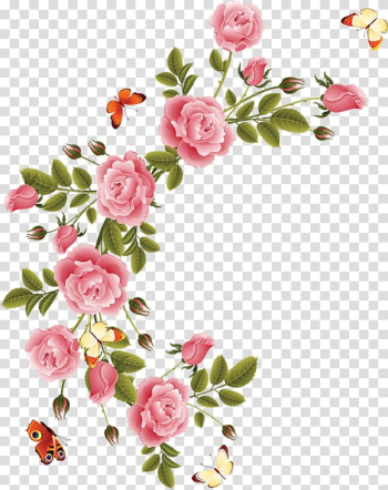 Pink rose illustration, Drawing Animation Pastel, pastel flower transparent background PNG clipart png image transparent background