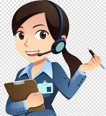 Female agent holding pen and clip board , Customer Service Technical Support Email Animation, people icon transparent background PNG clipart png image transparent background