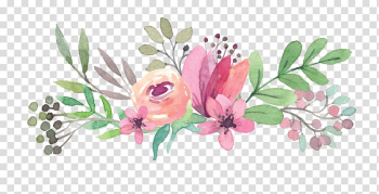 Pink and green flowers watercolor painting, Wedding invitation Mothers Day Flower Gift, Colorful bouquet transparent background PNG clipart png image transparent background