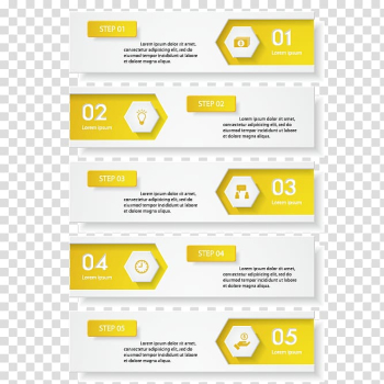 White and yellow arrow chart illustration, Yellow Infographic, Yellow-white minimalist design infographic material transparent background PNG clipart png image transparent background