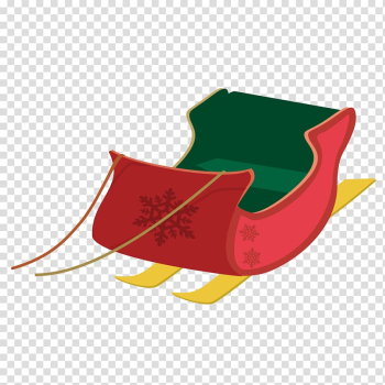 Christmas Sled Illustration, Creative Christmas sleigh transparent background PNG clipart png image transparent background