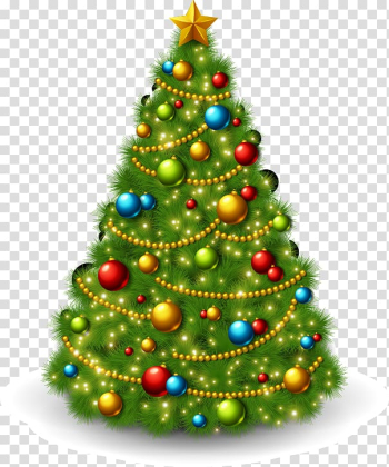 Christmas tree Christmas ornament Christmas decoration, Hand-painted decorative Christmas tree pattern transparent background PNG clipart png image transparent background