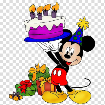 Minnie Mouse holding cake illustration, Mickey Mouse Birthday cake Greeting & Note Cards , mickey mouse birthday transparent background PNG clipart png image transparent background