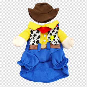 Sheriff Woody Dog Costume Clothing Cowboy, Dog transparent background PNG clipart png image transparent background