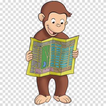 Curious George Makes Pancakes YouTube Cartoon, Watercolor monkey transparent background PNG clipart png image transparent background