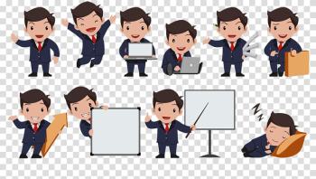 Businessperson Cartoon Mascot Animated film, Business transparent background PNG clipart png image transparent background