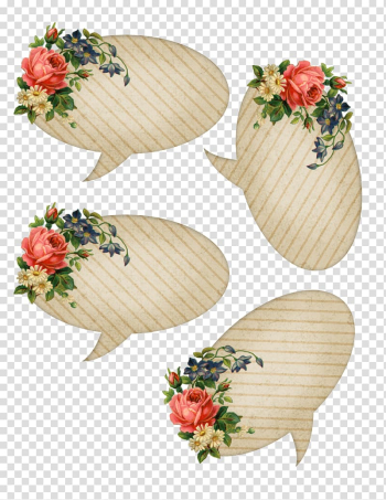 Speech balloon Floral design Drawing, others transparent background PNG clipart png image transparent background