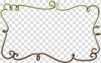 Brown and green frame transparent background PNG clipart png image transparent background