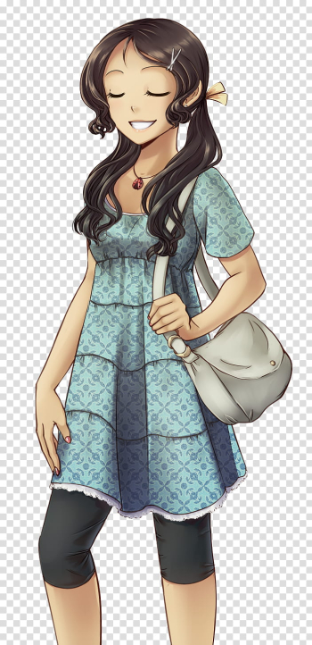Melissa, woman in green anime transparent background PNG clipart png image transparent background
