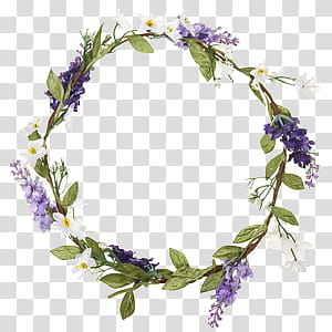 Flower Crowns, purple and white flower wreath illustration transparent background PNG clipart png image transparent background