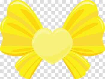 Colorful Bows, yellow ribbon illustration transparent background PNG clipart png image transparent background