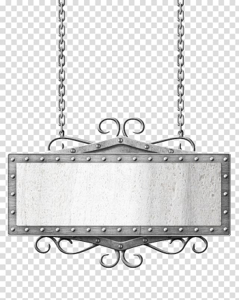 Rectangular signage frame illustration, Metal Chain, chain transparent background PNG clipart png image transparent background