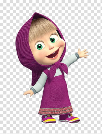 Animated , Masha and the Bear Animation, bear transparent background PNG clipart png image transparent background